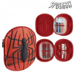 Trojitý peračník s vybavením - Spiderman 58409 - červený