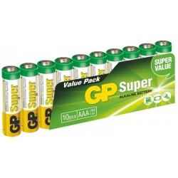 Alkalické batérie GP Super 24A-2VS10, LR03, 1.5V - 10x AAA