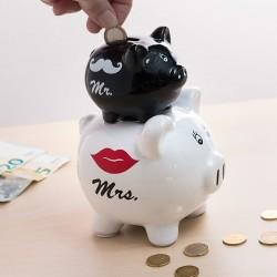 Pokladnička - prasiatka Mr & Mrs