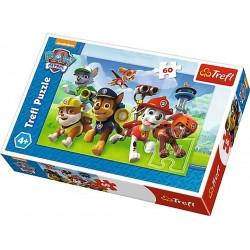Detské puzzle - Paw Patrol - Pripravení na akciu - 60 dielikov