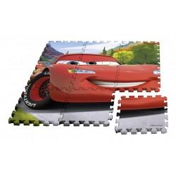 Podlahové penové puzzle - Cars - 9 dielov