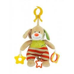 Detská plyšová hračka s hracím strojčekom - medvedík s kapucňou - Baby Mix