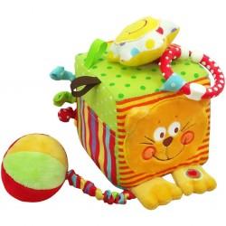 Detská interaktívna hračka - kocka s mačkou - Baby Mix