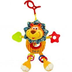 Detská plyšová hračka s hrkálkou - levica - Baby Mix