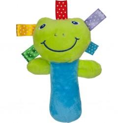 Detská plyšová hračka s pískatkom - žabka - Akuku