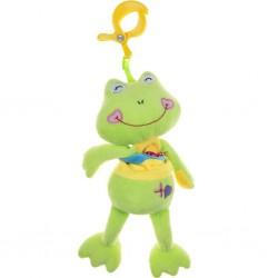 Detská plyšová hračka s hracím strojčekom - žabka - Akuku