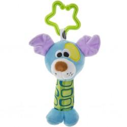 Detská plyšová hračka s hrkálkou - psík - Akuku