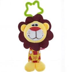 Detská plyšová hračka s hrkálkou - levica - Akuku