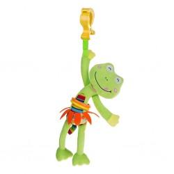 Detská plyšová hračka s vibráciou - žabka - Akuku