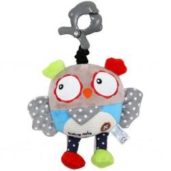 Detská plyšová hračka s hracím strojčekom - sova - Baby Mix