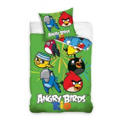 Detská obliečka - Angry Birds Rio - zelená - 140x200