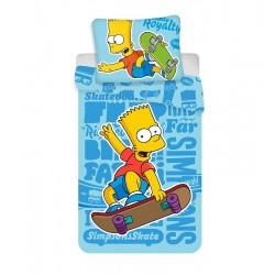 Detská obliečka - Bart Simpson - modrá - 140x200