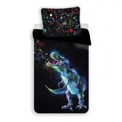 Detská obliečka - Dinosaurus - čierná - 140x200