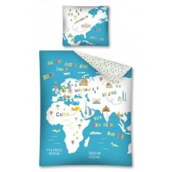 Detská obliečka - Mapa - 140x200