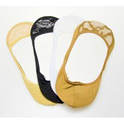 Bambusové čipkové ťapky AMZF D-236 - 3 páry