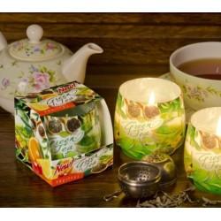 Vonná sviečka v skle - Zelený čaj s ovocím, 100g