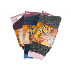 Dámske MEGA termo ponožky W1940 - farebné - 1 pár