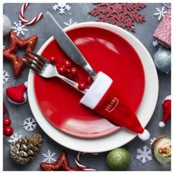Vianočná ozdoba - čiapka - červená