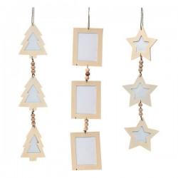 Vianočná reťaz - drevená - 47 x 10 x 0,5 cm
