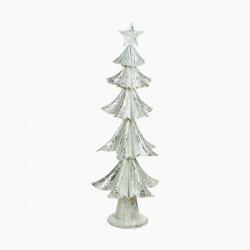 Vianočný stromček - železný strieborný - 63 x 25 x 25 cm