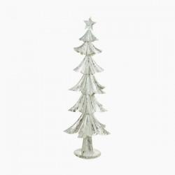 Vianočný stromček - železný strieborný - 74 x 28 x 28 cm