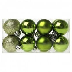 Vianočné banky - zelené - 4 cm - 16 ks