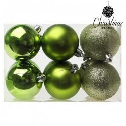 Vianočné banky - zelené - 6 cm - 12 ks