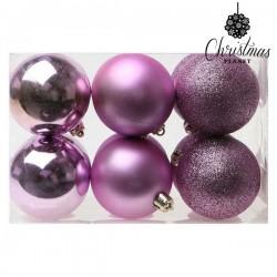 Vianočné banky - fialové - 6 cm - 12 ks