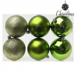 Vianočné banky - zelené - 8 cm - 6 ks