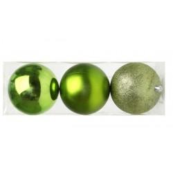 Vianočné banky - zelené - 10 cm - 3 ks
