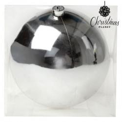 Vianočná banka - strieborná - 20 cm - 1 ks