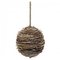 Vianočná banka drevená - 14 cm - 1 ks