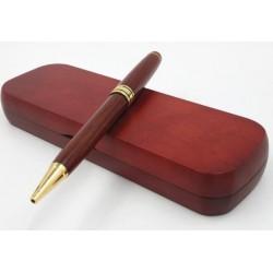 Guľôčkové pero v drevenom puzdre
