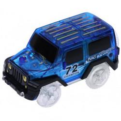 Náhradné autíčko ku svietiace autodráhe - šírka 6 cm - modré