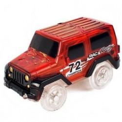 Náhradné autíčko ku svietiace autodráhe - šírka 6 cm - červené