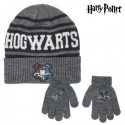 Čiapka a rukavice - Harry Potter - sivá