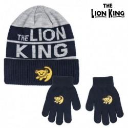 Čiapka a rukavice - Leví kráľ - sivá