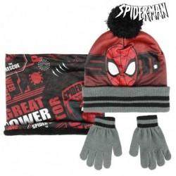 Čiapka, rukavice a šál - Spiderman - čierna