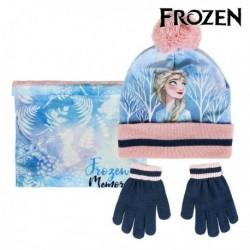Čiapka, rukavice a šál Ľadové Kráľovstvo - modrá/ružová