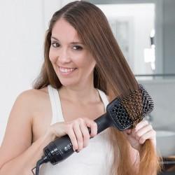 Elektrická kefa na vlasy - zlatočierna - 1000 W - InnovaGoods