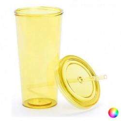 Plastový téglik so slamkou - 144874 - 750 ml