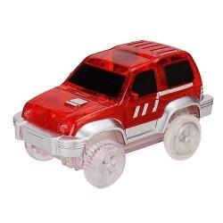 Náhradné autíčko ku svietiace autodráhe - šírka 7 cm - červené