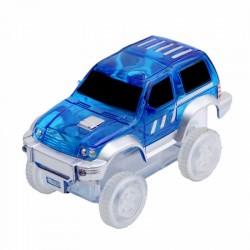 Náhradné autíčko ku svietiace autodráhe - šírka 7 cm - modré