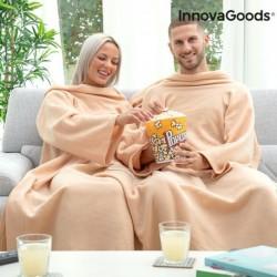 Deka s rukávmi pre dvoch - béžová - InnovaGoods