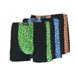 Pánske bambusové boxerky so vzorom pumy - mix farieb - 1 ks - Pesail