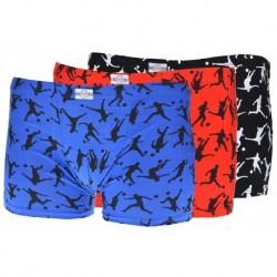 Chlapčenské boxerky s futbalistami - mix farieb - súprava 3 ks - Elevek