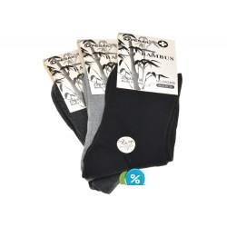 Dámske bambusové zdravotné klasické ponožky ZW220B - 3 páry - Pesail
