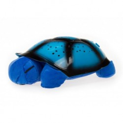 Projektor hviezd - magická korytnačka - hrajúca - modrá