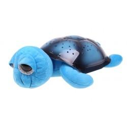 Projektor hviezd - magická korytnačka s veľkými očami - hrajúca - modrá