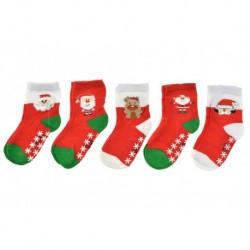 Detské ponožky s protišmykovou podrážkou - mix motívov - 5 párov - Auravia